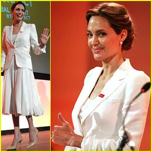 Angelina Jolie Calls for an End to Sexual Violence in Conflict Alongside Foreign Secretary William Hague