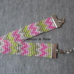 Bracelet perles de rocailles tissé main 2