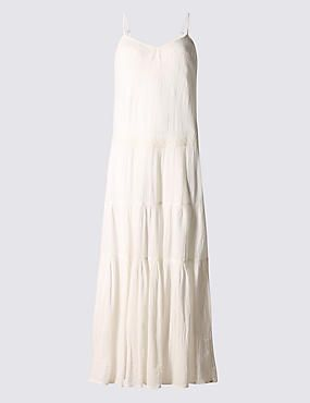Pure Cotton Tier Maxi Dress