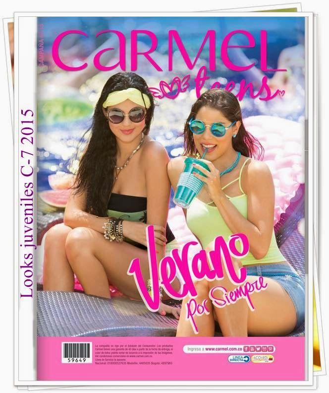 Nueva Campaña 7 Catalogo Carmel Teens 2015. La coleccion contiene looks con sexys escotes.