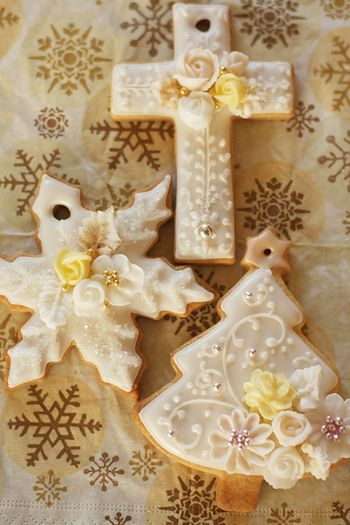 Decorated Sugar Cookies for Christmas think baptism, 1st communion, etc