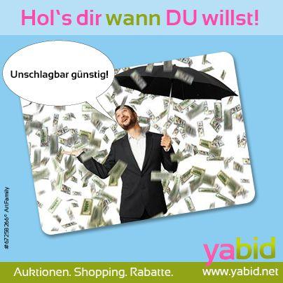 Die Yabid-Vorhersage: #Deals mit Aussicht auf #Cash! Schnapp' dir jetzt die #Angebote bei #Yabid und spare bares #Geld! Hol's dir wann DU willst! www.yabid.net