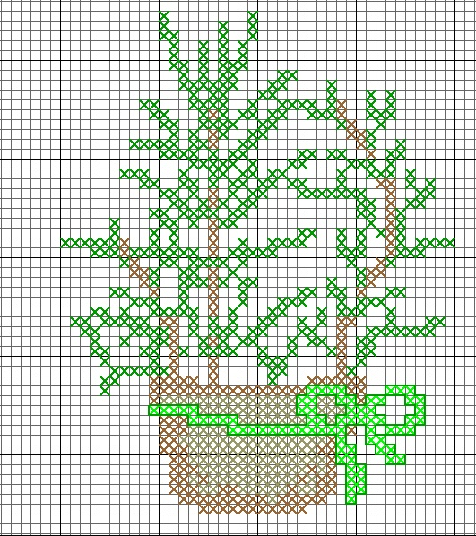 #free #cross #stitch #herbs in a #pot #rosemary