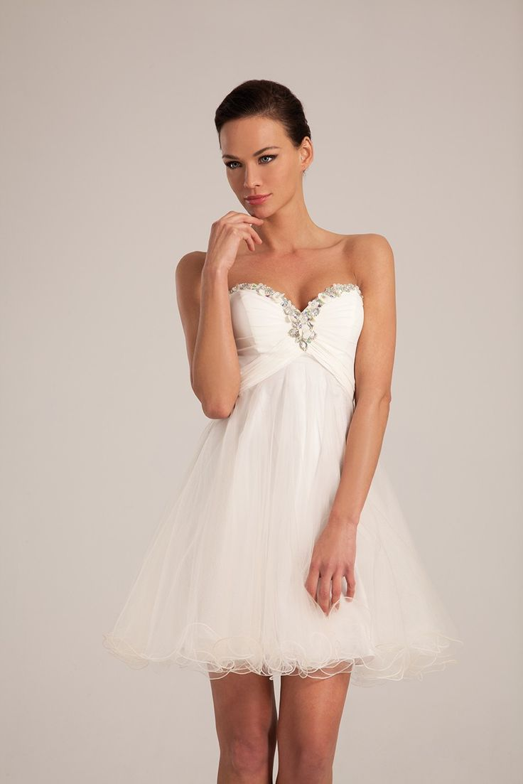 Robe de mari e courte en mousseline et tulle collection for Collection de robe de mariage disney