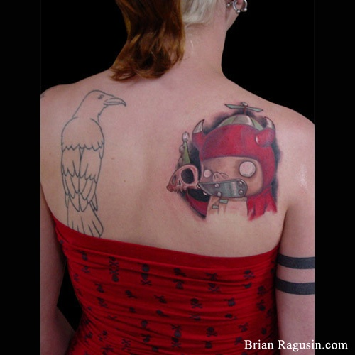 Anime Characters With Tattoos : Anime character tattoo shoulder tattoos by brian