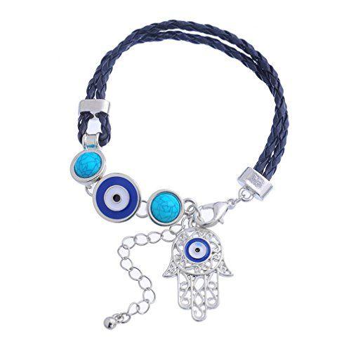 Xiehou Filigree Hand of Fatima Turquoise Evil Eye Leather Braided Adjustable Charm Bracelet Black Xiehou http://www.amazon.com/dp/B00WE1IH2Q/ref=cm_sw_r_pi_dp_JzVnvb0NJKE7Y