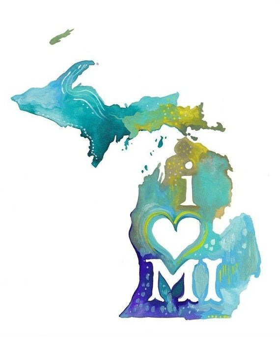 Michigan  vertical print by thewheatfield on Etsy