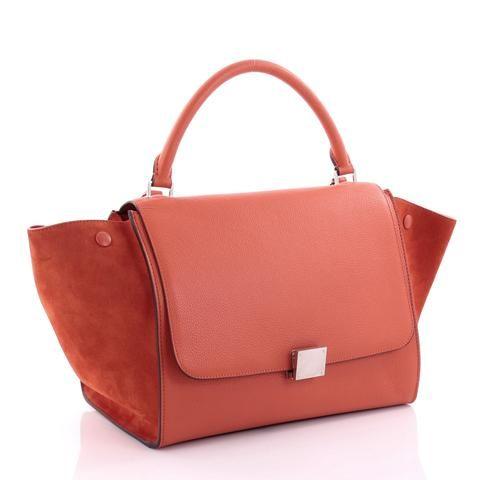 5eb3819967240 Buy Celine Trapeze Handbag Leather Medium Red 2603401 | Wish List ...
