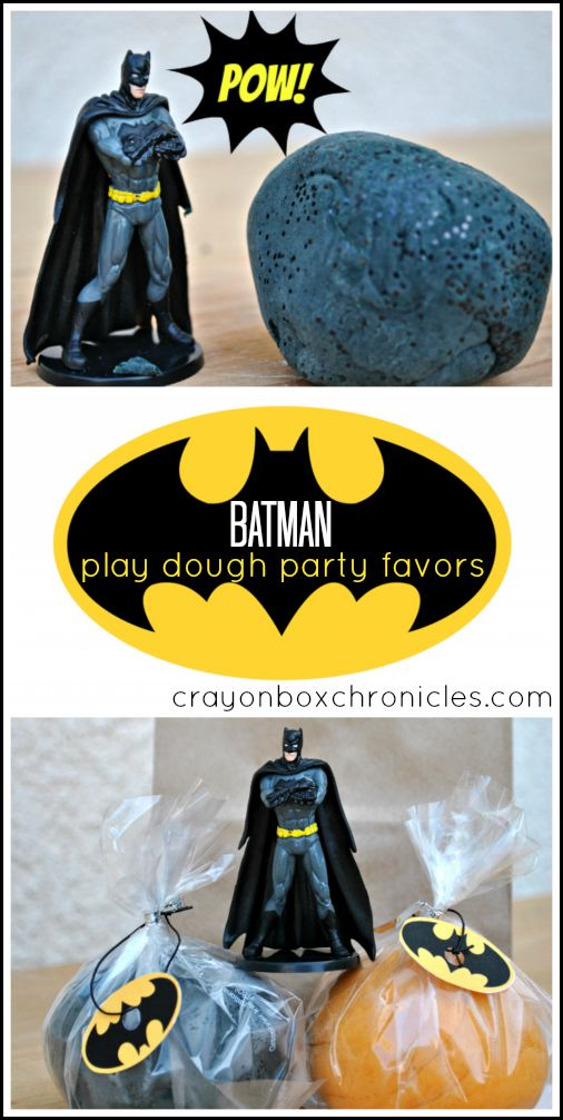Batman Play Dough & Party Favors by Crayon Box Chronicles