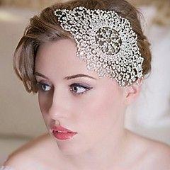 Hårband Headpiece Dam/Blomflicka Bröllop/Speciellt Tillfälle Strass Bröllop/Speciellt Tillfälle