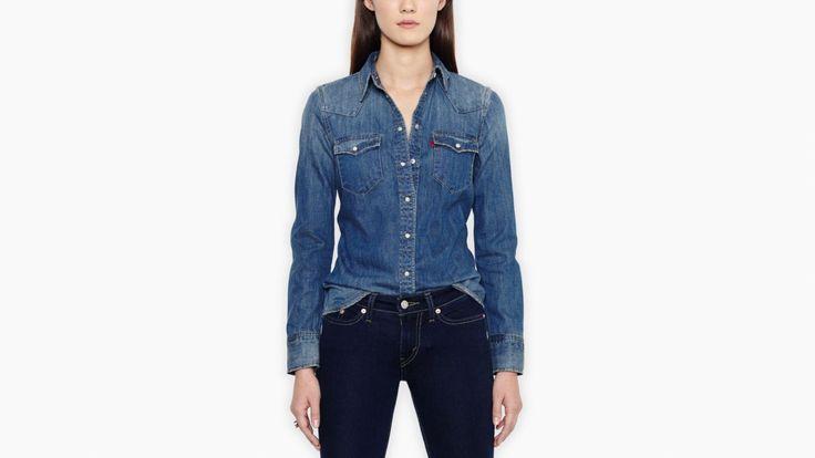 Tailored Western Shirt | Dark Heritage | Topjes | Kleding | Dames | Levi's | Netherlands