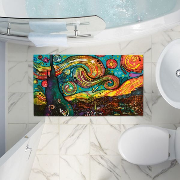 Bath Rugats From Dianoche Designs By Artist Dean Russo Starry Night