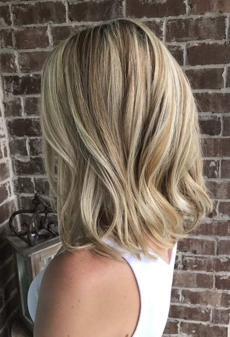 Golden And Honey With Platinum Blonde Highlights Long