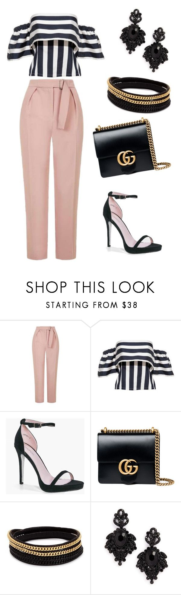 """""""upper east side"""" by anjola112 on Polyvore featuring Topshop, Boohoo, Gucci, Vita Fede and Tasha"""