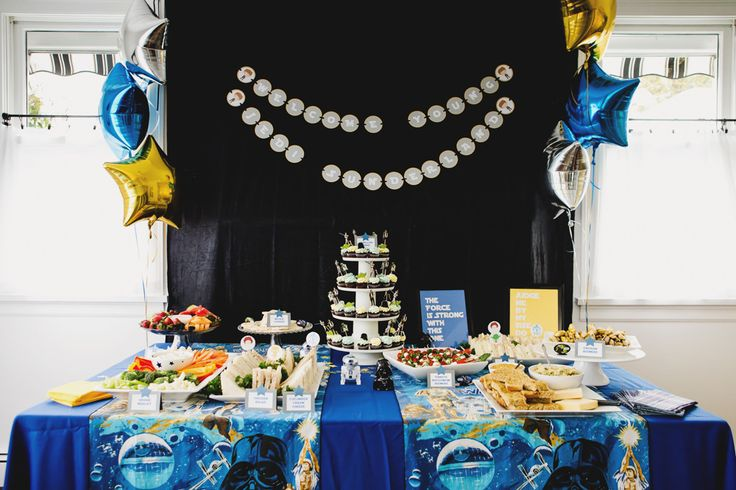 star wars themed baby shower from style me pretty living