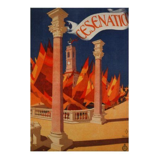 Cesenatico Italy ~ Vintage European Travel Ad Posters   #TuscanyAgriturismoGiratola