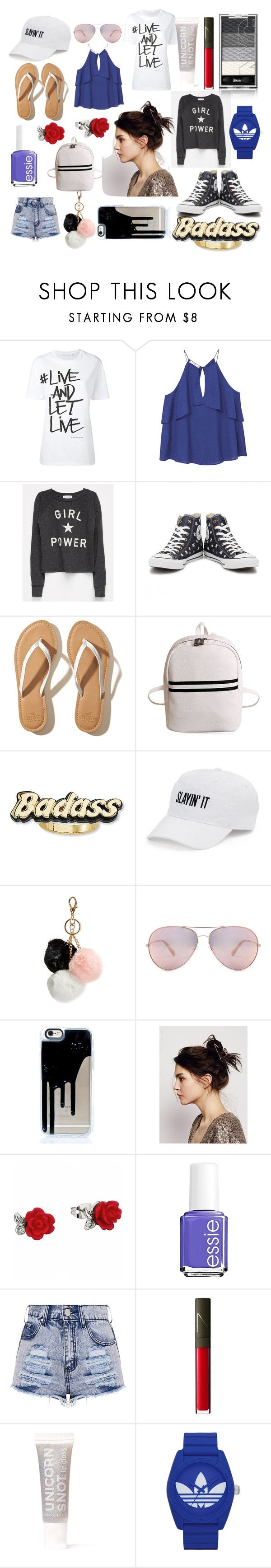 """viola"" by que2001 ❤ liked on Polyvore featuring Neil Barrett, MANGO, Full Tilt, Converse, Hollister Co., Steve Madden, SO, GUESS, Oliver Peoples and Free People"