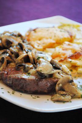 Roastbeef in Champignon-Zwiebel-Rahm & Kartoffelgratin nach Johann Lafer - Küchenzaubereien