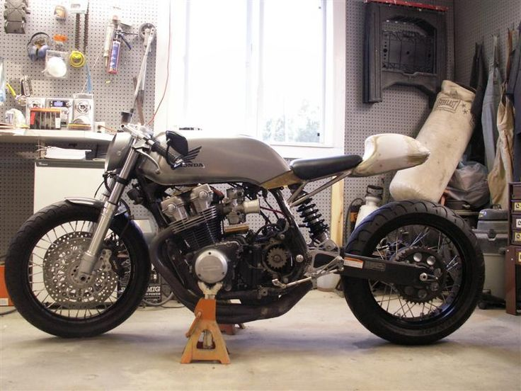 moden street bik converted to older era cafe racer - Google Search