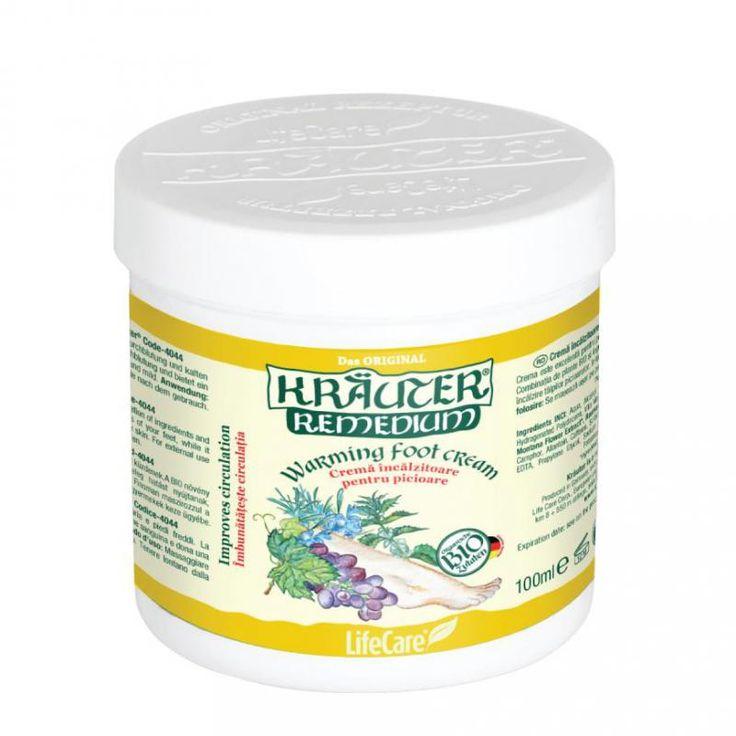 Kräuter® lábmelegítő krém, BIO gyógynövényekkel