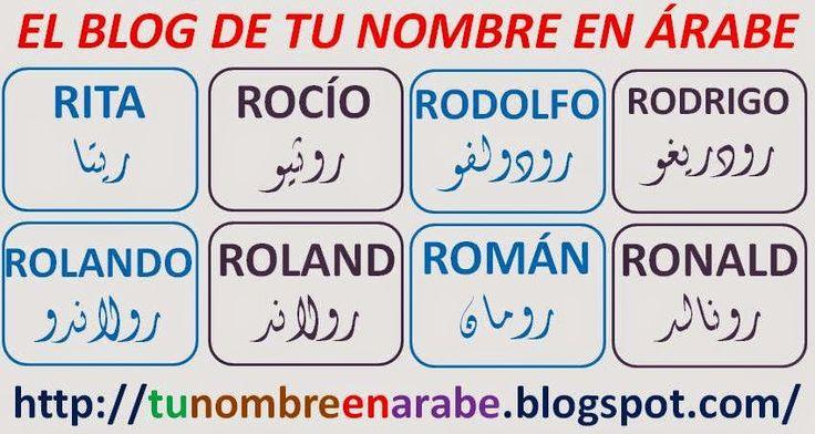 NOMBRES EN ARABE: RITA ROCIO RODOLFO ROLAND RONALD
