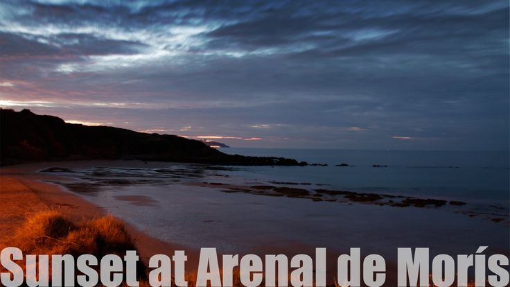 Timelapse with the sunset at the Arenal de Morís beach, Asturias. Filmed on August 24th, 2014.