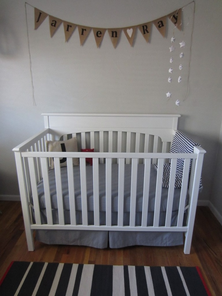 banner above crib with name baby cooper pinterest