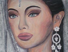 Schilderij van een Indiase bruid