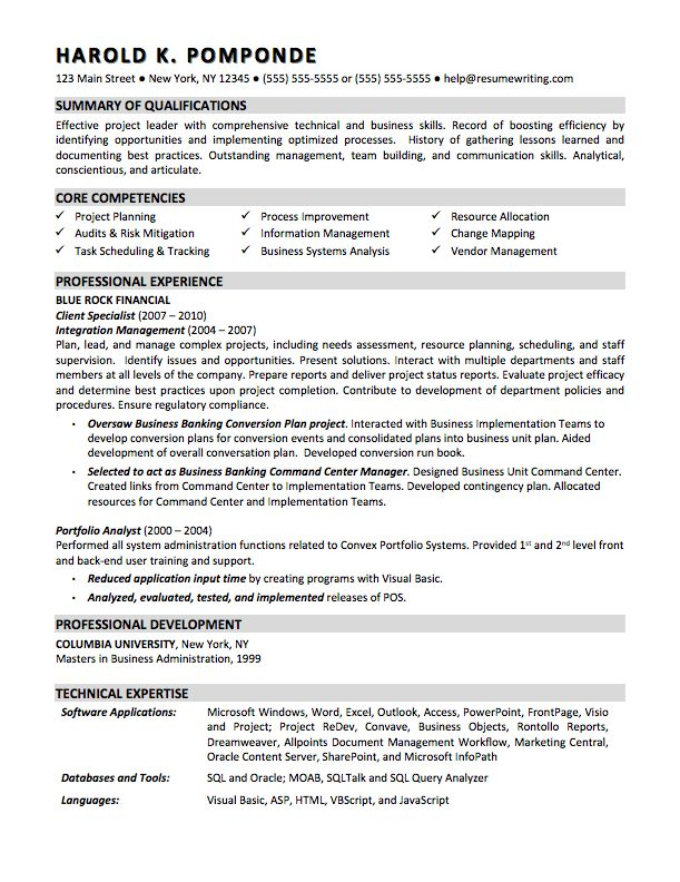 business analyst professional resume - Google Search Career - portfolio analyst sample resume