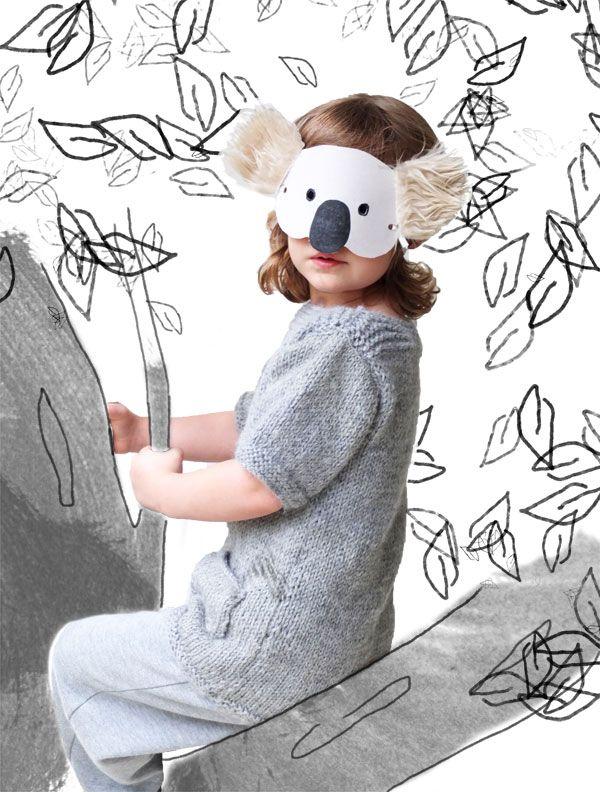 Kids Craft: Koala Mask with Template | My Poppet Makes http://mypoppet.com.au/makes/2013/10/kids-craft-koala-mask-with-template.html