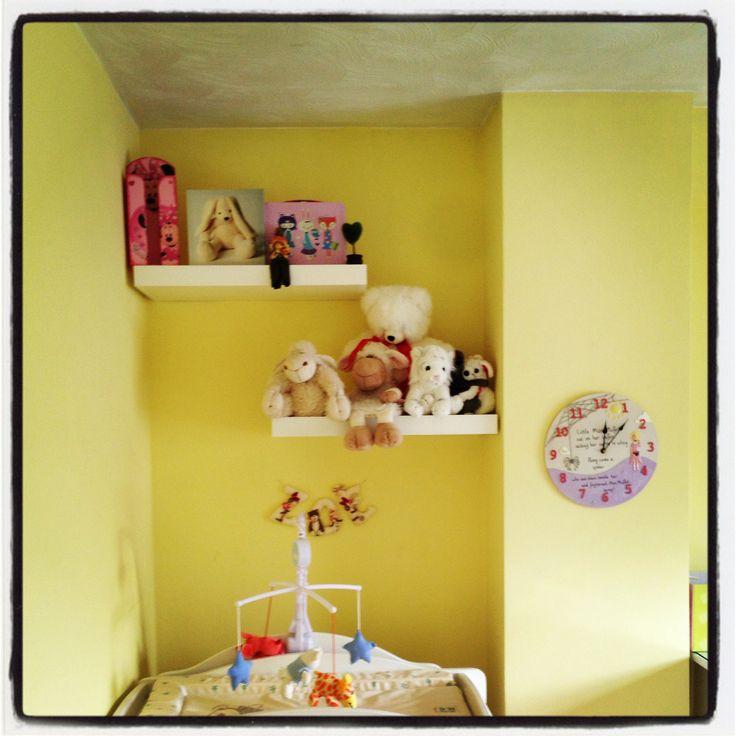 Best baby room baby girls nursery floating shelves
