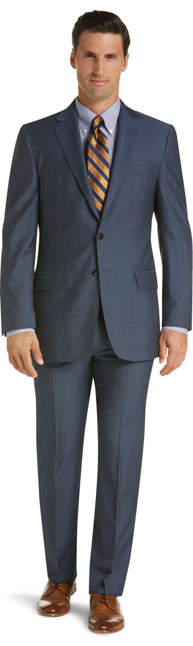 Reserve Collection Traditional Fit Herringbone Suit - Big & Tall