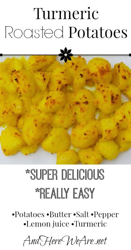 Turmeric Roasted Potatoes | And Here We Are... Super easy and delicious. #potatoes #primal #turmeric #sidedishes