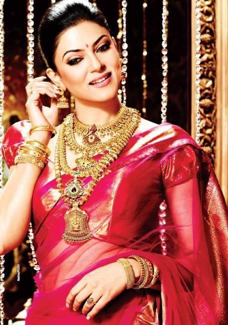 Gold jewellery #Sushmita #Bollywood
