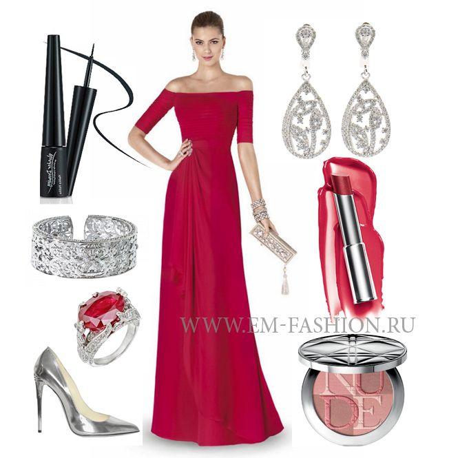 Cool Summer evening wear. Красный для цветотипа холодное лето