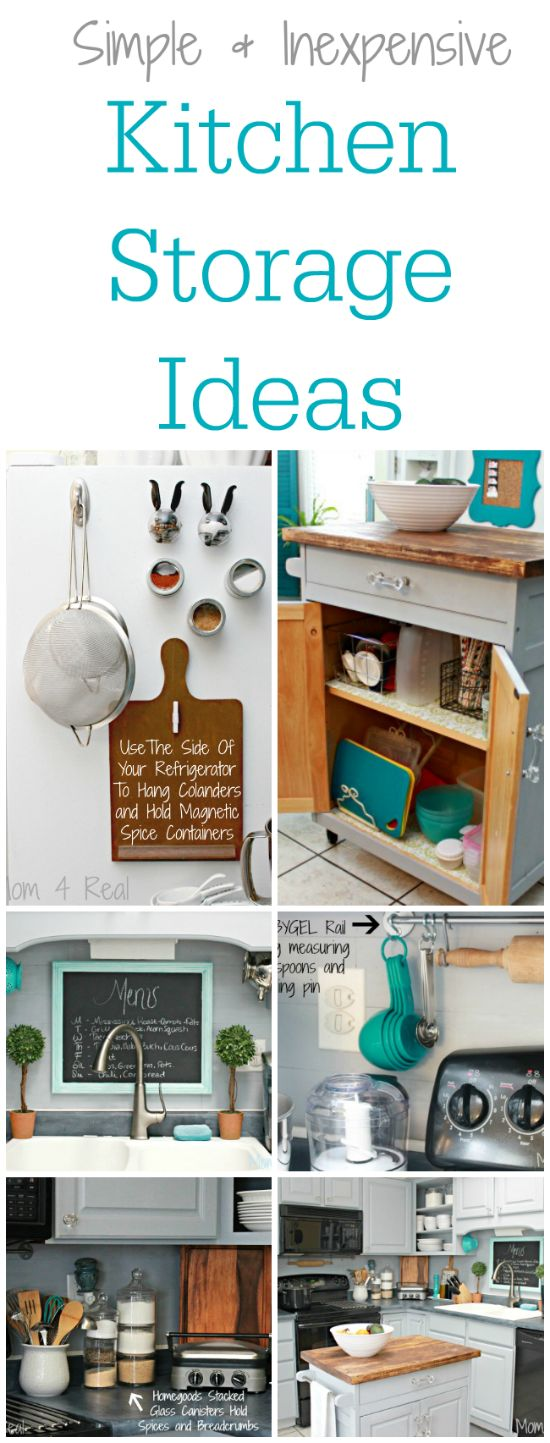 56 Useful Kitchen Storage Ideas: Simple And Inexpensive Kitchen Storage Ideas