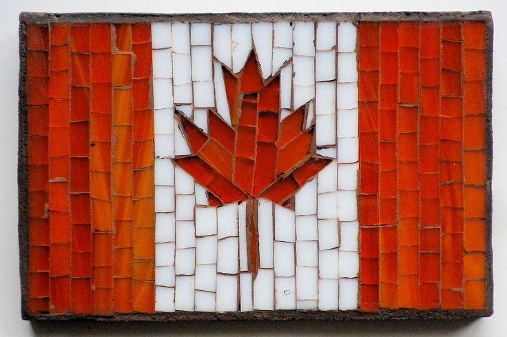 Flag Canadian Mosaic FPDDG by LachanceGlassMosaic on Etsy