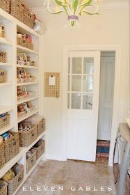 butler's pantry, craft room, wrapping room, laundry room, London Grey Caesarstone, pantry organization