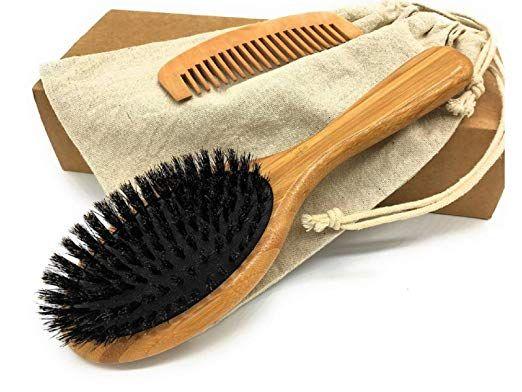 THREEOFLIFE Boar Bristle Hair Brush Set for Women and Men