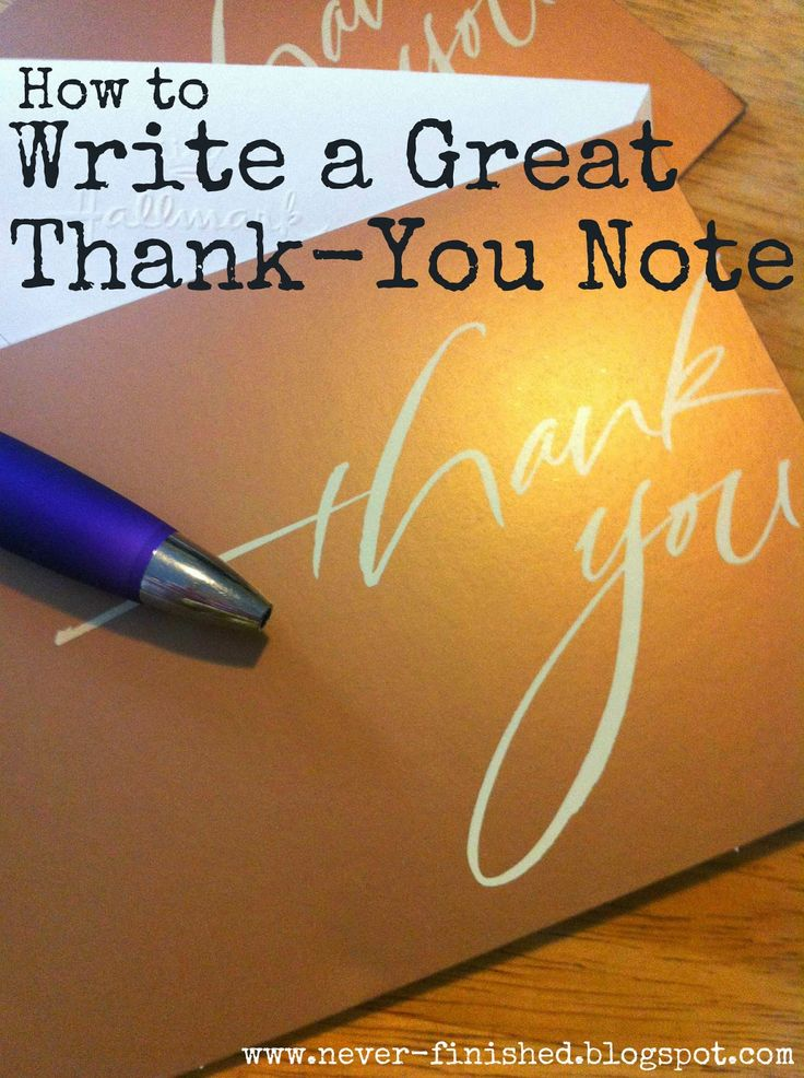 54 Best How To Write A Thank You Note Images On Pinterest | Thank