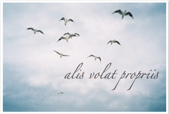 alis volat propriis, she flies with her own wings