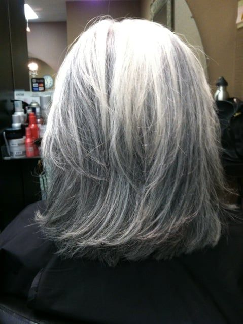White Hair With Lowlights Grey Hair Lowlights Short