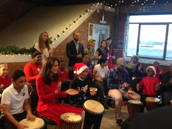 "katemiddletons: ""Emma Wright ‏@EmmaWrightITV: Duchess of Cambridge joins in drumming with Beat feet @beatfeet1 @itvnews """