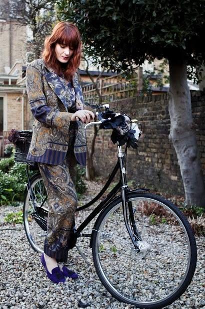 Florence Welsh and black bobbin in pyjama suit