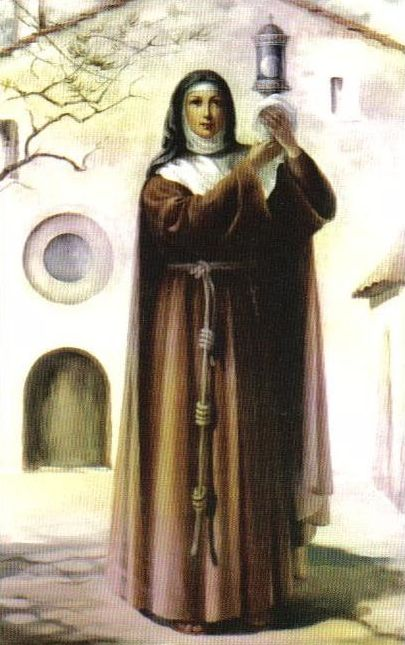 St. Clare Of Assisi-Clare, which means light