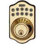RemoteLock 5i WiFi Polished Brass Electronic Deadbolt Door Lock - Aspen