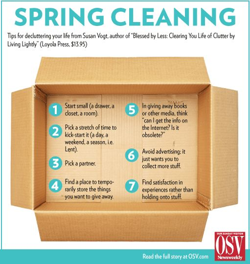 How about a little Lenten spring cleaning? Here's help!