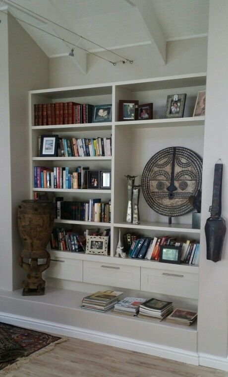 Spray painted book shelf