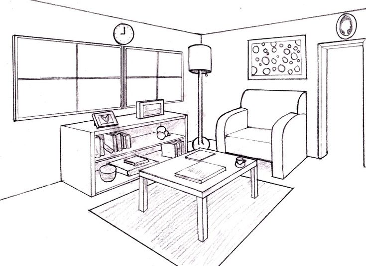 How To Draw A Room In Perspective | Interior Home Designs ...