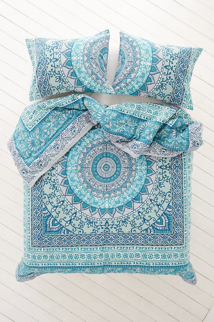 Blue bedspreads and comforters - Plum Bow Katara Medallion Comforter